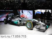 Купить «Sportcar Formula1 Mercedes на ММАС 2014», фото № 7059715, снято 3 сентября 2014 г. (c) Владимир Тучин / Фотобанк Лори