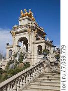 Барселона. Каскадный фонтан в парке Цитадели (2015 год). Стоковое фото, фотограф Gagara / Фотобанк Лори