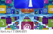 Купить «Many rows of app icons», видеоролик № 7064651, снято 6 августа 2020 г. (c) Wavebreak Media / Фотобанк Лори