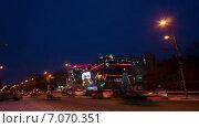 Кинотеатр Луч в Красноярске. Таймлапс, гиперлапс (2015 год). Редакционное видео, видеограф Леван Каджая / Фотобанк Лори