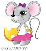 Симпатичная мышь. Стоковая иллюстрация, иллюстратор Илья Алексеев / Фотобанк Лори