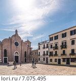 Купить «Венеция, Италия. Церковь Сан-Джованни ин Брагора, в которой был крещён Антонио Вивальди.», фото № 7075495, снято 13 апреля 2013 г. (c) Юрий Дмитриенко / Фотобанк Лори