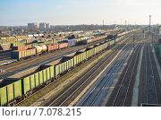 Большая железнодорожная станция (2014 год). Редакционное фото, фотограф Михаил Бессмертный / Фотобанк Лори