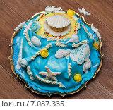 Купить «Самодельный торт в виде морского дна», эксклюзивное фото № 7087335, снято 24 февраля 2015 г. (c) Игорь Низов / Фотобанк Лори