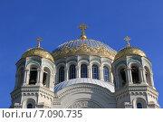 Купола Морского Никольского собора в Кронштадте (2014 год). Стоковое фото, фотограф Андрей Мсхалая / Фотобанк Лори