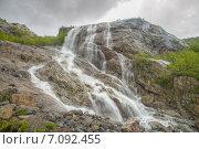 Купить «Алибекский водопад в горах Тебердинского заповедника», фото № 7092455, снято 30 мая 2012 г. (c) Алексей Бок / Фотобанк Лори