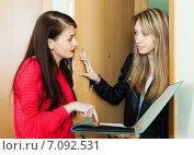 Купить «Case worker conducting survey among residents», фото № 7092531, снято 21 марта 2014 г. (c) Яков Филимонов / Фотобанк Лори