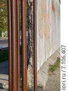 Купить «Берлинская стена, Берлин, Германия», фото № 7106407, снято 6 октября 2014 г. (c) Анастасия Улитко / Фотобанк Лори