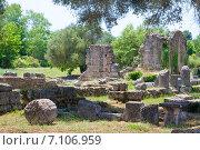 Купить «Археологические раскопки, Олимпия, Греция», фото № 7106959, снято 13 июня 2014 г. (c) Papoyan Irina / Фотобанк Лори