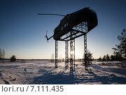 Тренировочный макет вертолета на полигоне. Каменка. Ленинградская область. Стоковое фото, фотограф Василий Вострухин / Фотобанк Лори