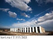Строительство таможенного терминала на Грузино-Армянской границе. Бавра. Август 2014. Редакционное фото, фотограф Василий Вострухин / Фотобанк Лори
