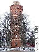 Купить «Зарайск. Старая водонапорная башня (1914 год)», эксклюзивное фото № 7111599, снято 8 марта 2015 г. (c) Илюхина Наталья / Фотобанк Лори