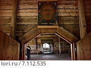 Старинная икона, Кижи. Редакционное фото, фотограф Мариана Бэлэнеску / Фотобанк Лори