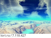 Купить «Чужая планета. Скалы и луна», иллюстрация № 7118427 (c) Parmenov Pavel / Фотобанк Лори
