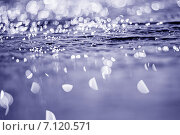 Купить «Вода. Фон. Солнечные блики. Малая глубина резкости», фото № 7120571, снято 2 мая 2014 г. (c) Gagara / Фотобанк Лори