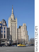 Купить «Сталинская высотка на Кудринской площади у Баррикадной. Москва», эксклюзивное фото № 7127471, снято 14 марта 2015 г. (c) Илюхина Наталья / Фотобанк Лори