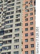 Купить «Двенадцати–двадцатичетырёхэтажный пятиподъездный монолитный жилой дом. Проезд Берёзовой Рощи, 10. Москва», эксклюзивное фото № 7128351, снято 14 марта 2015 г. (c) lana1501 / Фотобанк Лори