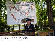 Купить «Ветеран Великой Отечественной войны», эксклюзивное фото № 7134235, снято 9 мая 2014 г. (c) Михаил Ворожцов / Фотобанк Лори