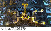 Купить «МГУ, вид сверху», фото № 7136879, снято 19 января 2019 г. (c) Андрей Родионов / Фотобанк Лори