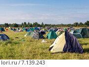 Палаточный лагерь. Стоковое фото, фотограф Моргулян Михаил / Фотобанк Лори