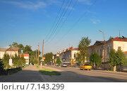 Енисейск. Вид на улицу Ленина. Редакционное фото, фотограф Anna Bukharina / Фотобанк Лори