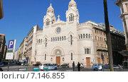 Купить «Евангелическая церковь Вальденсов на площади Пьяцца Кавур. Рим, Италия. 4K», видеоролик № 7146855, снято 18 февраля 2015 г. (c) Никита Майков / Фотобанк Лори