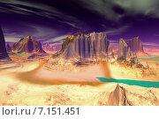 Купить «Чужая планета. Скалы и небо», иллюстрация № 7151451 (c) Parmenov Pavel / Фотобанк Лори