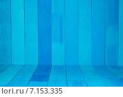 Купить «Фон, синие доски», фото № 7153335, снято 16 марта 2015 г. (c) Влад  Плотников / Фотобанк Лори