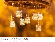 Купить «Люстра из банок в стиле Рустик», фото № 7153359, снято 19 октября 2014 г. (c) Влад  Плотников / Фотобанк Лори