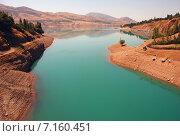 Чарвакское водохранилище в Узбекистане в августе, фото № 7160451, снято 29 августа 2007 г. (c) Elizaveta Kharicheva / Фотобанк Лори