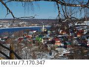 Вид на город Плес (2015 год). Стоковое фото, фотограф Анфимов Леонид / Фотобанк Лори