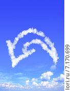 Купить «Cloud in the form of arrow», фото № 7170699, снято 24 сентября 2018 г. (c) Лукиянова Наталья / Фотобанк Лори