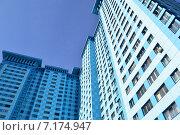 Купить «Двадцативосьмиэтажный пятиподъездный монолитный жилой дом. Авиационная улица, 59. Москва», эксклюзивное фото № 7174947, снято 13 марта 2015 г. (c) lana1501 / Фотобанк Лори