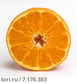 Мандарин в разрезе. Стоковое фото, фотограф Михаил Иванцов / Фотобанк Лори