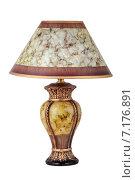 Купить «Настольная лампа с абажуром, изолировано на белом фоне», фото № 7176891, снято 26 марта 2015 г. (c) Игорь Долгов / Фотобанк Лори