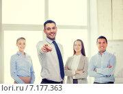 Купить «businessman in office pointing finger at you», фото № 7177363, снято 5 апреля 2014 г. (c) Syda Productions / Фотобанк Лори