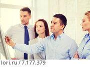 Купить «business team discussing something in office», фото № 7177379, снято 5 апреля 2014 г. (c) Syda Productions / Фотобанк Лори