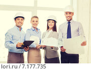 Купить «happy business team in office», фото № 7177735, снято 5 апреля 2014 г. (c) Syda Productions / Фотобанк Лори