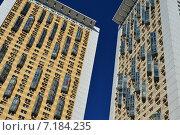 Купить «Жилой комплекс «Дом на Беговой» – первая очередь. Хорошёвское шоссе, 16, корпуса 1 и 2.  Москва», эксклюзивное фото № 7184235, снято 10 марта 2015 г. (c) lana1501 / Фотобанк Лори
