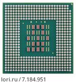Купить «Современный микропроцессор, изолировано на белом фоне», фото № 7184951, снято 28 марта 2015 г. (c) Игорь Долгов / Фотобанк Лори