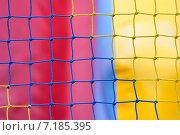 Купить «Разноцветная веревочная сетка», фото № 7185395, снято 12 мая 2012 г. (c) Алёшина Оксана / Фотобанк Лори