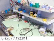 Купить «Ортопедическая стоматология. Кабинет подготовки протезов и имплантантов», фото № 7192811, снято 26 марта 2015 г. (c) Евгений Ткачёв / Фотобанк Лори