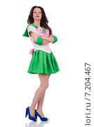 Female model in cosplay costume isolated on white. Стоковое фото, фотограф Elnur / Фотобанк Лори