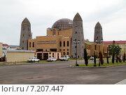 Купить «Чечня, Грозный. Здание Национального музея Чеченской Республики на проспекте Путина», эксклюзивное фото № 7207447, снято 21 августа 2013 г. (c) A Челмодеев / Фотобанк Лори