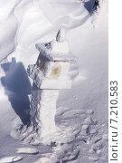 Купить «Ледяной буддийский фонарь», фото № 7210583, снято 2 марта 2014 г. (c) Евгений Ткачёв / Фотобанк Лори