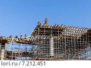 Каркас дома (2013 год). Редакционное фото, фотограф Андрей Колабухин / Фотобанк Лори