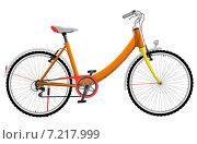 Купить «Женский оранжевый велосипед», иллюстрация № 7217999 (c) Николай Кувшинов / Фотобанк Лори