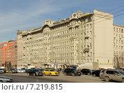 Купить «Дом Афремова на площади Красных ворот в Москве», фото № 7219815, снято 19 марта 2015 г. (c) Денис Ларкин / Фотобанк Лори