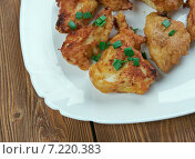Купить «Жареная курица (Buffalo Popcorn Chicken)», фото № 7220383, снято 24 марта 2015 г. (c) Александр Fanfo / Фотобанк Лори