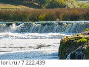 Ventas Rumba, самый широкий водопад в Европе, Латвия, Кулдига (2014 год). Стоковое фото, фотограф Юлия Бабкина / Фотобанк Лори